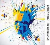 futuristic 3d vector background ... | Shutterstock .eps vector #788925805