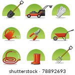 web icons garden tools | Shutterstock .eps vector #78892693