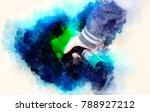 man pumping gasoline fuel in... | Shutterstock . vector #788927212