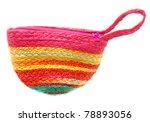 colorful small purse - stock photo