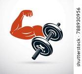 vector illustration of strong... | Shutterstock .eps vector #788930956