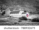 typical vintage american barn... | Shutterstock . vector #788932675