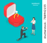 marriage proposal flat... | Shutterstock .eps vector #788942155