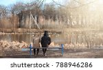 a pair of young people met in... | Shutterstock . vector #788946286