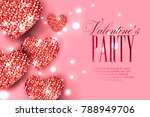 valentine's day party...   Shutterstock .eps vector #788949706