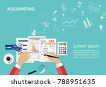 flat design concepts for... | Shutterstock .eps vector #788951635