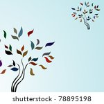 abstract tree invitation for... | Shutterstock .eps vector #78895198