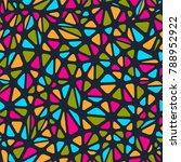 seamless vector pattern  with... | Shutterstock .eps vector #788952922