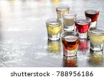 selection of alcoholic drinks.... | Shutterstock . vector #788956186