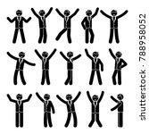 stick figure happiness ... | Shutterstock .eps vector #788958052