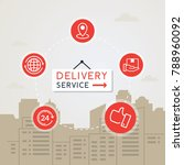 concept of fast delivery... | Shutterstock .eps vector #788960092