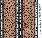 striped leopard fashion... | Shutterstock .eps vector #788960296