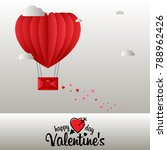 happy valentine's day with... | Shutterstock .eps vector #788962426