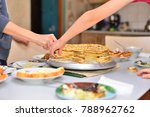 baking concept. female hands... | Shutterstock . vector #788962762