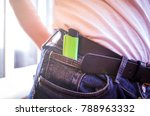 lighter in jeans pocket | Shutterstock . vector #788963332