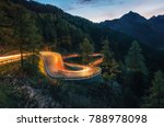 the winding mountain road with... | Shutterstock . vector #788978098