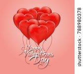 red heart love balloon group... | Shutterstock .eps vector #788980378