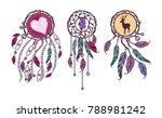 ethnic set  tribal amulet.... | Shutterstock .eps vector #788981242