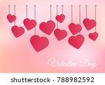 vector background valentines day | Shutterstock .eps vector #788982592