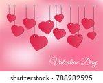 vector background valentines day | Shutterstock .eps vector #788982595