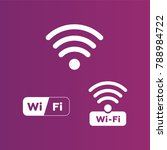 wireless and wifi icons.... | Shutterstock .eps vector #788984722