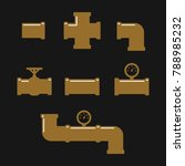 pipe fittings vector icons set. ... | Shutterstock .eps vector #788985232