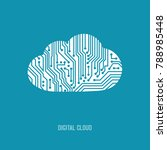 vector digital cloud icon. | Shutterstock .eps vector #788985448