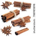cinnamon stick group with star...   Shutterstock . vector #788985898