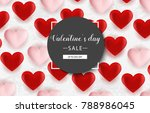 valentine s day background with ... | Shutterstock .eps vector #788986045