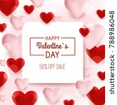 valentine s day background with ...   Shutterstock .eps vector #788986048