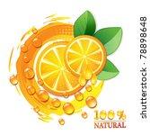 slices orange with leaf... | Shutterstock .eps vector #78898648