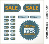 sale tags  price and discount... | Shutterstock .eps vector #78898729