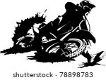 a silhouette of a motorcycle... | Shutterstock .eps vector #78898783