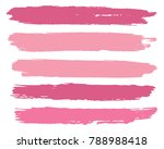 collection of hand drawn pink... | Shutterstock .eps vector #788988418