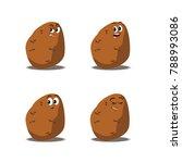 cartoon character of vegetables ...
