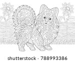 coloring page. adult coloring... | Shutterstock .eps vector #788993386