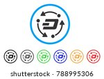 dash turnover rounded icon.... | Shutterstock .eps vector #788995306