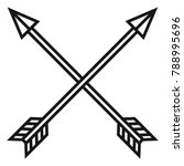 vector black outline medieval... | Shutterstock .eps vector #788995696