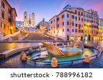 spanish steps in the morning ... | Shutterstock . vector #788996182