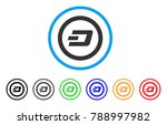 dash rounded rounded icon.... | Shutterstock .eps vector #788997982