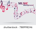 abstract music notes on line... | Shutterstock .eps vector #788998246