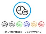 dash credit clock rounded icon. ... | Shutterstock .eps vector #788999842