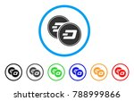 dash coins rounded icon. style... | Shutterstock .eps vector #788999866