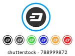 dash coin rounded icon. style... | Shutterstock .eps vector #788999872