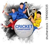 cricket championship  playing... | Shutterstock .eps vector #789000535