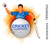 cricket championship  playing... | Shutterstock .eps vector #789000562