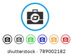 dash business case rounded icon....   Shutterstock .eps vector #789002182