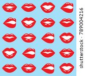 Red Lips Seamless Pattern ...