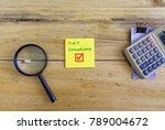 conceptual value added tax... | Shutterstock . vector #789004672