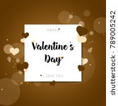postcards happy valentine's day | Shutterstock .eps vector #789005242